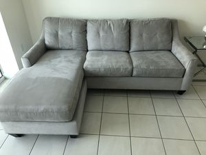 Suede Cindy Crawford Sofa bed (Full Size Orthopedic) for Sale in Miami, FL