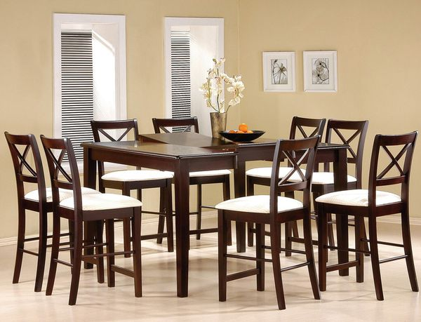 bar chair rail height kitchen table dining set with chairs
