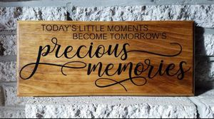 "Handmade wooden sign ""precious moments..."" for Sale in Frederick, MD"