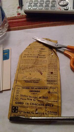 Old train ticket for Sale in Hyattsville, MD