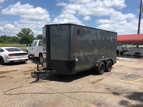 7x16 encloses trailer blacked out package for Sale in Katy, TX - OfferUp