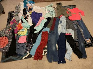 Girls cloths. Lots of pants a jacket few sweat shirts shorts for Sale in Accokeek, MD