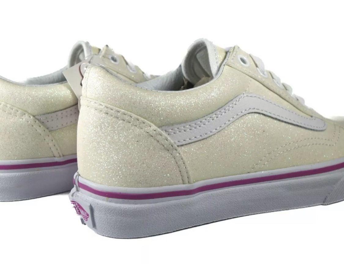 Glitter vans Size 6.5 In Kids