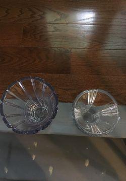 Crystal flower vases Thumbnail