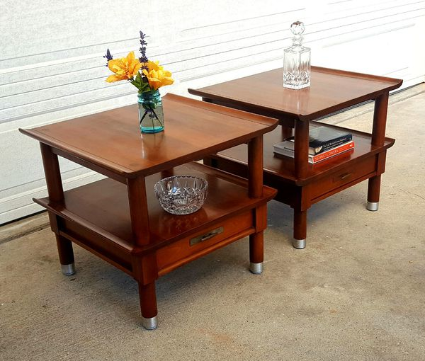 Mcm Cherry Solid Wood End Tables For Sale In Pacifica Ca Offerup