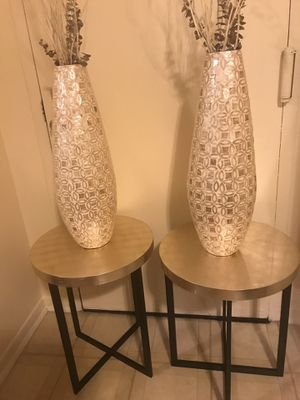"""Set of 2 golden beige 24"""" vases free sticks click on my profile picture to check out my other listings message me if you interested for Sale in Gaithersburg, MD"""