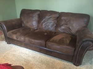 Lane leather sofa, chair and ottoman for Sale in Fort Belvoir, VA