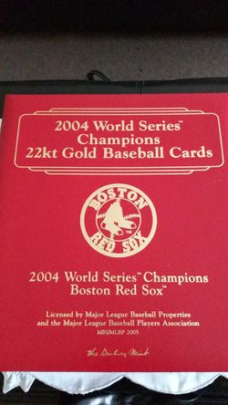 2004 world series 22kt gold Baseball Cards Thumbnail