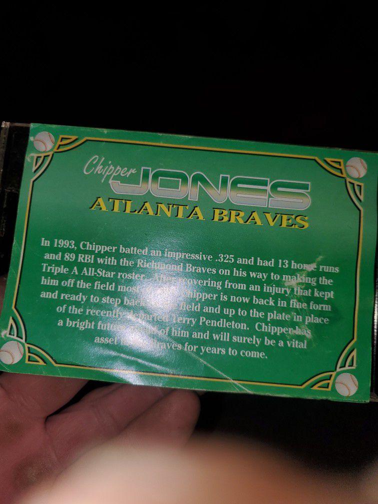 Chipper Jones Autographed Card