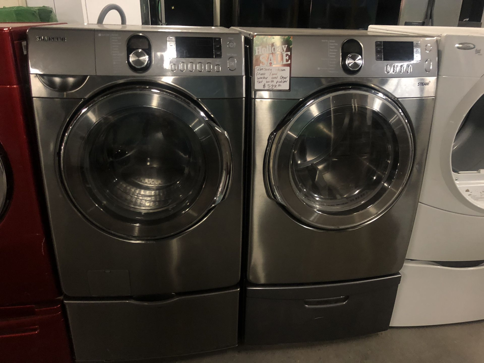 Holiday sale !! Samsung Steam front load washer and dryer in perfect condition with 4 months warranty