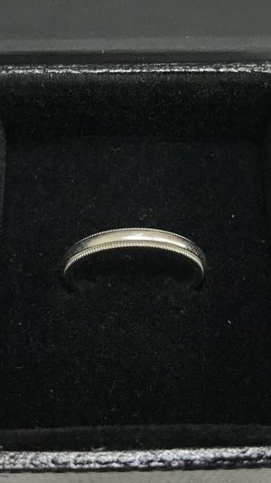 Tiffany & Co. Platinum Milgrain Wedding Band Ring. for Sale in Houston, TX