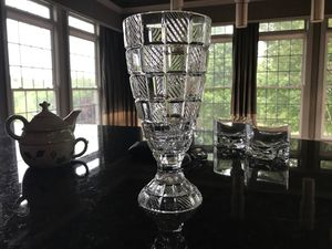 2 Piece crystal candle holder for Sale in North Potomac, MD