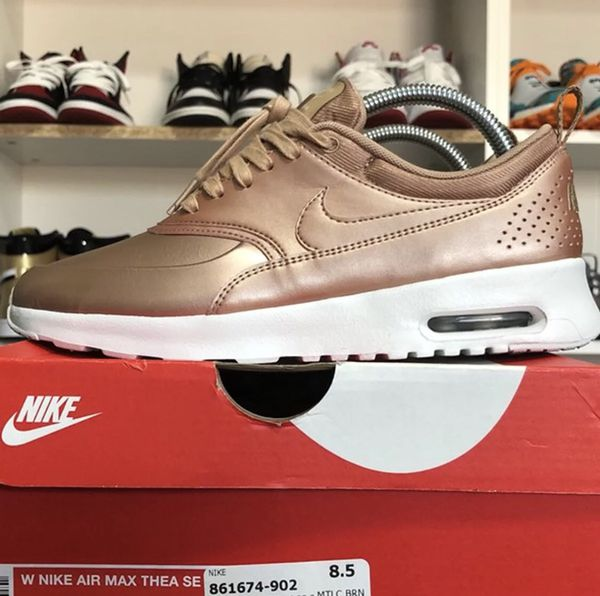 nike air max thea metallic rose gold