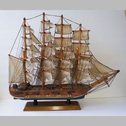 Tall Ship Model USS Valiant Wood Canvas Sails Thumbnail