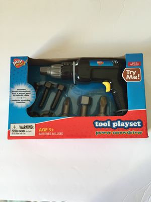 Tool play set with power screwdriver. for Sale in Saint Cloud, FL