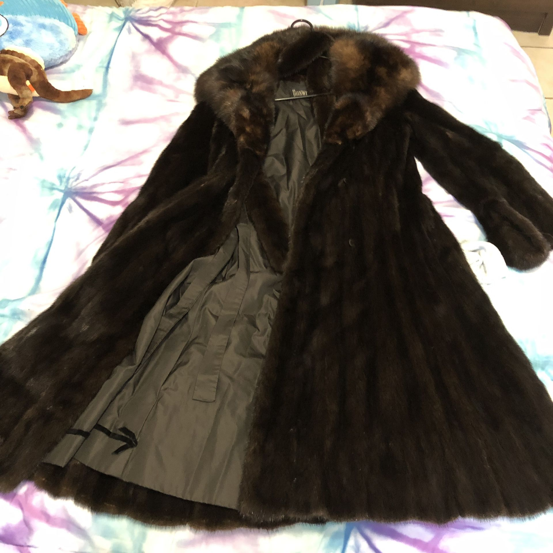Genuine fur coat $450