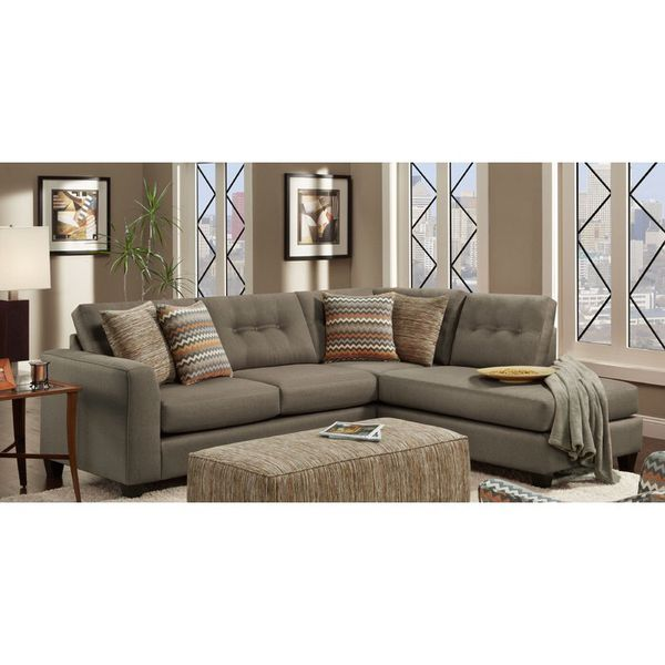 Sectional Sofa with Throw pillows! (Lowered Price) for Sale in Charlotte,  NC - OfferUp