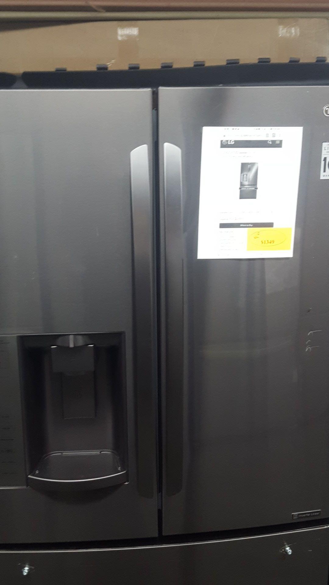 Lg black stainless steel french door refrigerator