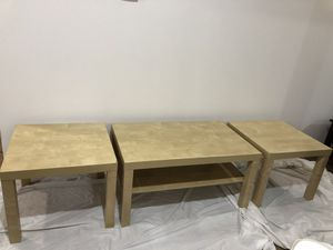 Light Tan Coffee Table with Two Side Tables for Sale in Lynchburg, VA