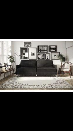 Grey Linen Sofa Futon (Fathers Day Special!) jM $125 Ends Jun.15th Thumbnail