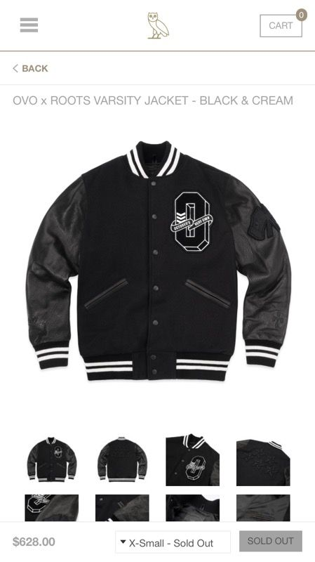 2a90bb2ba9630e OVO Varsity Letterman Jacket 2017 XXL SOLD OUT for Sale in Woodbury ...