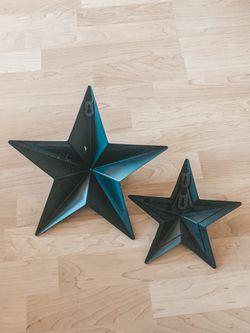 Rustic Metal Black Stars - Home Decor Thumbnail