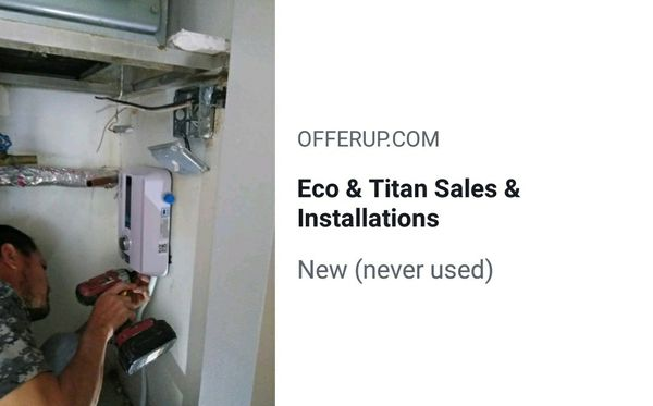 eco & titan tankless water heaters sales & installations for sale in