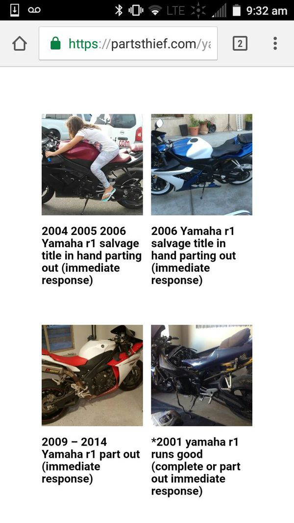 06 r1 09 r1 Drz400 cbr 600rr dr350 gsxr 600 Parts! for Sale in Carlsbad, CA  - OfferUp