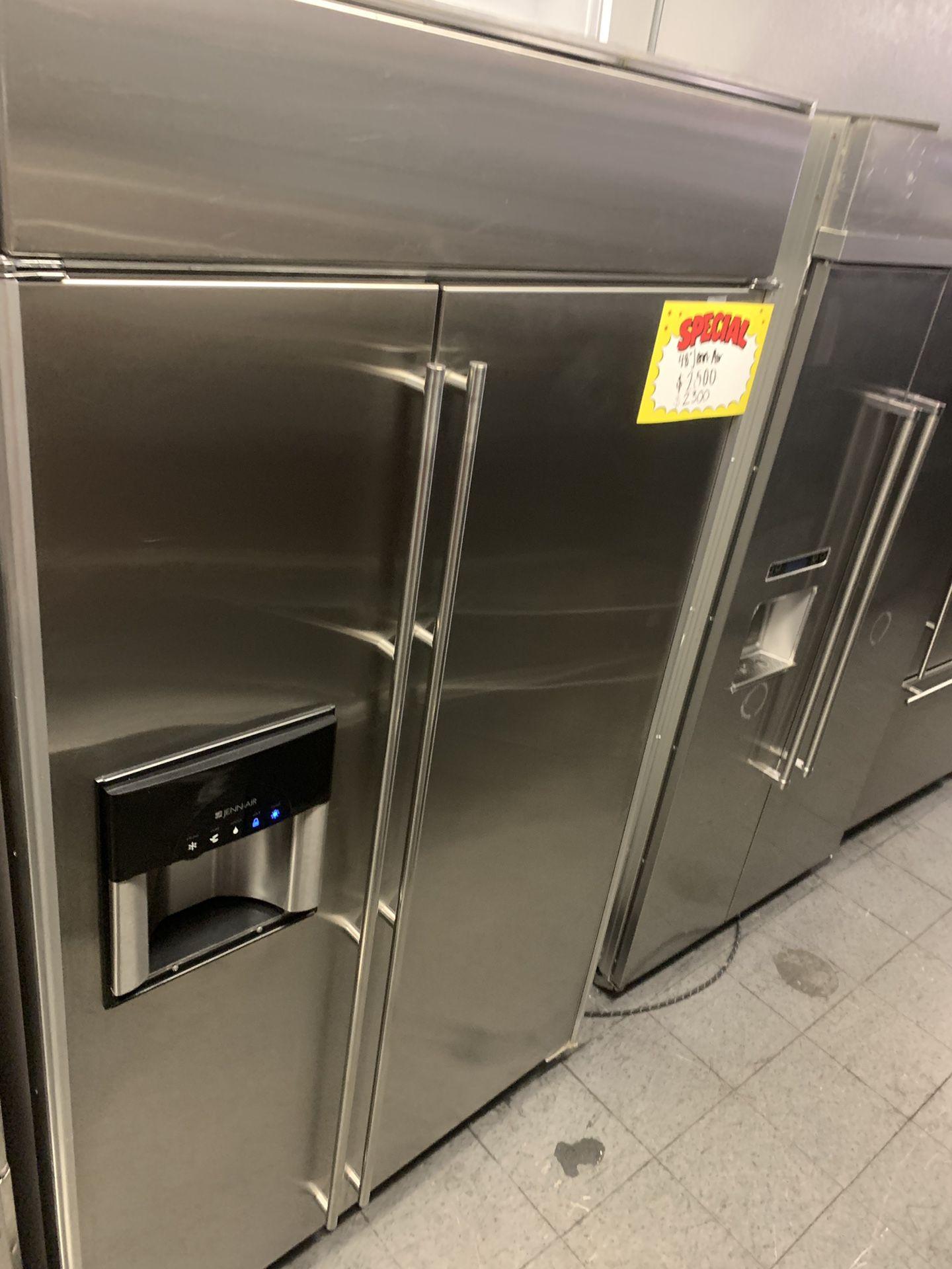 Jenn air built in 48 wide refrigerator stainless steel