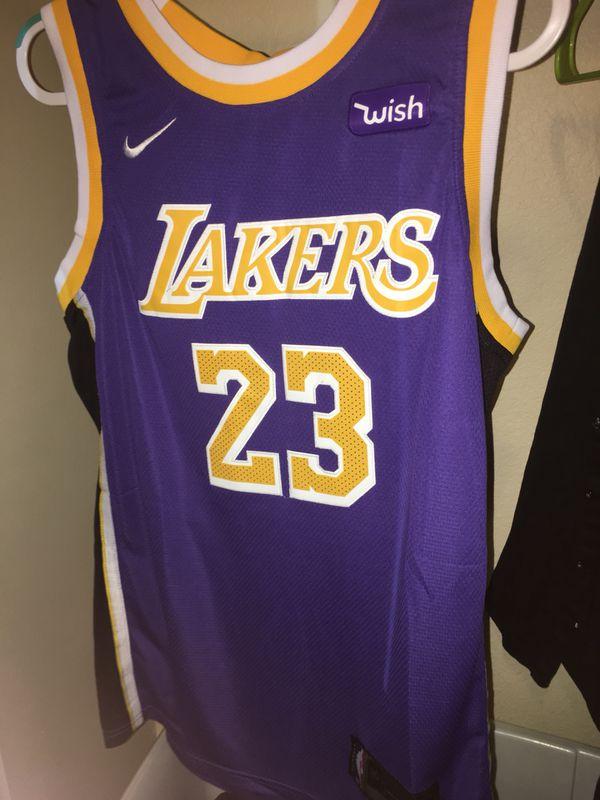 29ed4f7f4c3 BRAND NEW W Tags Lebron James Purple Lakers Jersey Adult L and XL Size 52  Nike NBA LA
