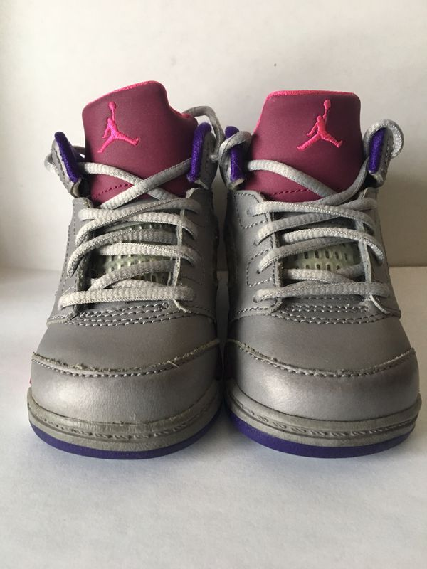 promo code 61426 fec2f Nike Air Jordan 5 Retro Flight 23 Girls Size 4C for Sale in Littleton, MA -  OfferUp