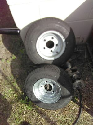 Small 5 lug trailer tires. for Sale in Orlando, FL