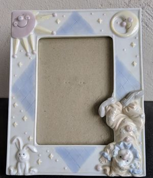 Vintage ceramic 4x6 baby kids picture frame for Sale in San Antonio, TX