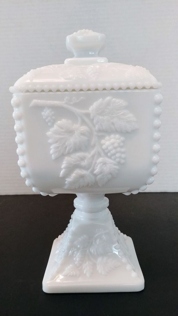Westmoreland Milk Glass Candy Dish With Lid For Sale In Fort Myers