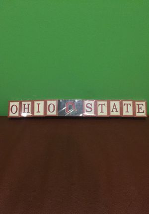 Ohio State Buckeyes Wood Block Art NEW for Sale in Cleveland, OH