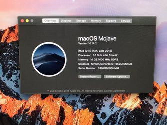 Apple IMac Late 2012 Quad Core i7/16GB RAM/1TB HDD - Apple Mouse and Keyboard included Thumbnail