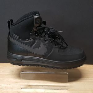 Photo Nike Lunar Force 1 Sneakerboot GS 706803 002 Triple Black Size 6.5Y Shoes