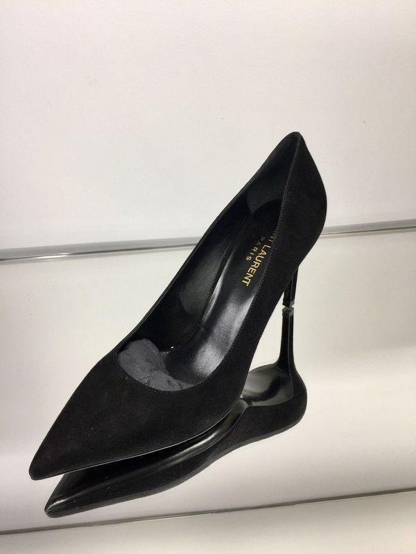 33f7c249755 YSL Yves Saint Laurent Women s Paris Pump Suede Leather Heel Shoe
