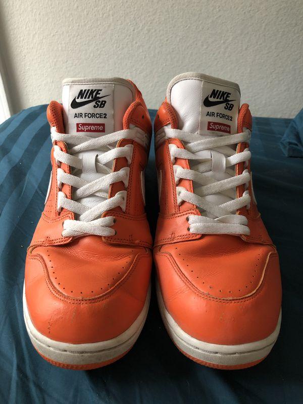 "Nike Force 2 Low Air ""orange Supreme Sb rBeWdCxo"