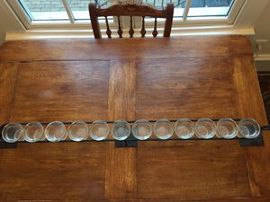 Mantle candle display with 12 glass candle holders for Sale in Alexandria, VA