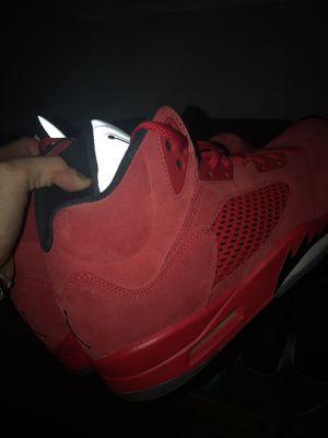 jordan 5 red suede sz12 for Sale in Germantown, MD
