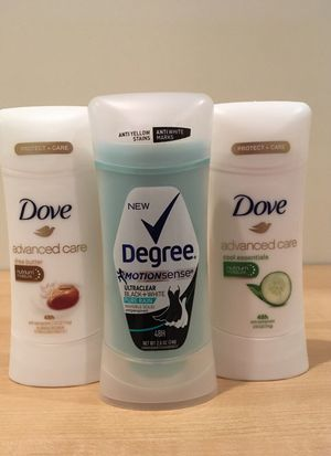 Set of 3 women's Dove & Degree antiperspirant/deodorant for Sale in Alexandria, VA