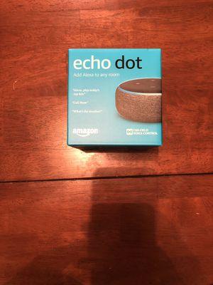 Amazon Echo Dot 3rd generation Smart Speaker Alexa - Brand New for Sale in Rescue, CA