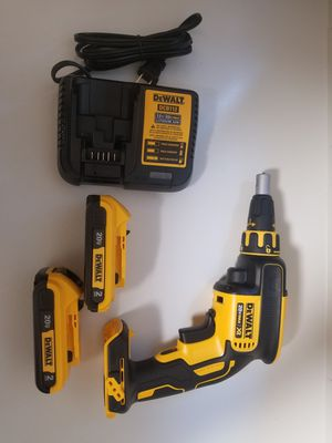 Dewalt brushless drywall drill set (2) batteries and charger for Sale in Orlando, FL