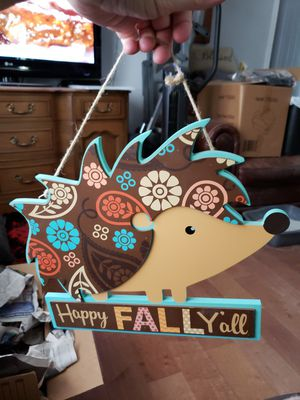 Happy Fall Y'all hedgehog sign for Sale in Laveen Village, AZ