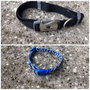 Large dog collar(black) small dog collar(blue) for Sale in Ocoee, FL