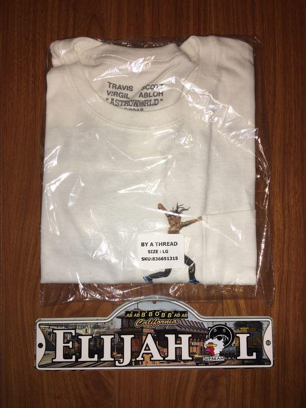 f2b6591d5d38 Travis Scott Astroworld x Virgil Abloh Off White Tee Shirt Size Large