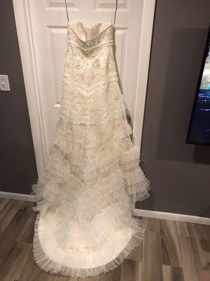 Oleg Cassini ivory wedding dress for Sale in Lisle, IL