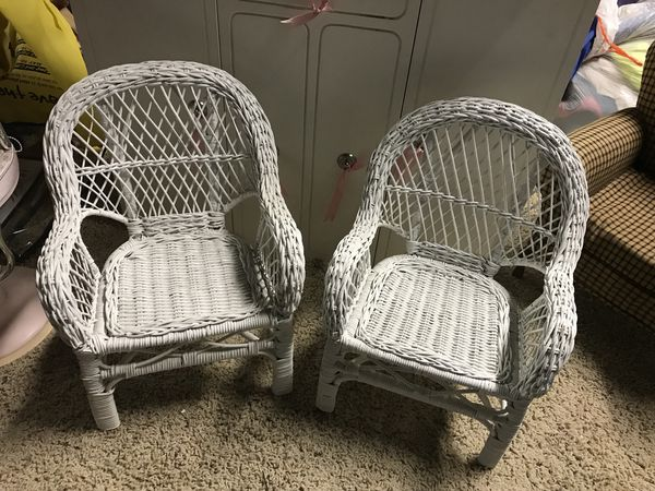 American girl doll size wicker chairs for Sale in Crest Hill, IL - OfferUp