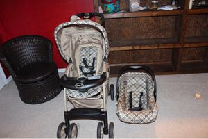 Kids training bike and car seat and stroller for Sale in Herndon, VA